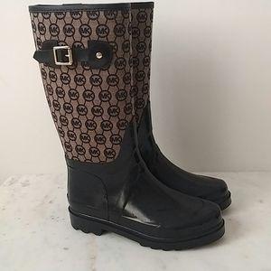 MICHAEL KORS - rubber monogram rain boots